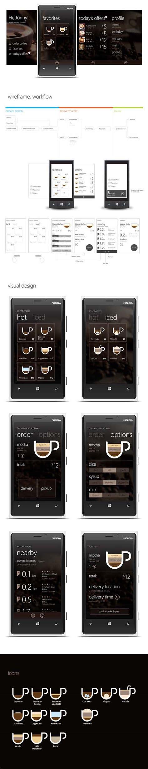 coffee shop ui design coffee app design by michael novoselov