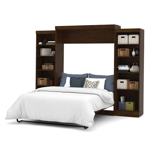 queen wall bed pur 115 quot queen wall bed kit in chocolate