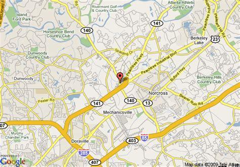map of norcross map of studio plus peachtree corners norcross