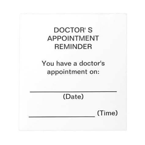 Doctor S Appointment Reminder Notes Zazzle Com Doctor S Appointment Card Template