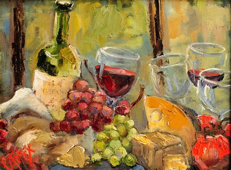 paint with a twist the falls tuscan table painting by carole foret