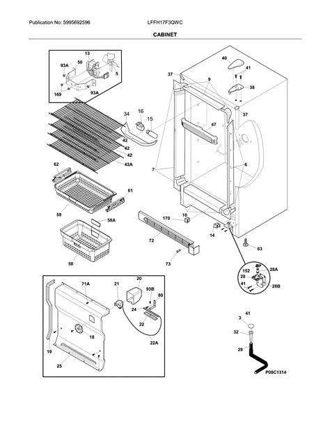 frigidaire model lffhfqwc upright freezer genuine parts