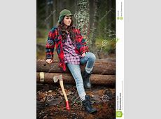 Lumberjack girl stock photo. Image of rural, model, forest ... Firewood Prices