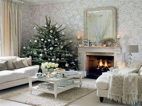 interni natalizi addobbi natalizi le decorazioni in bianco