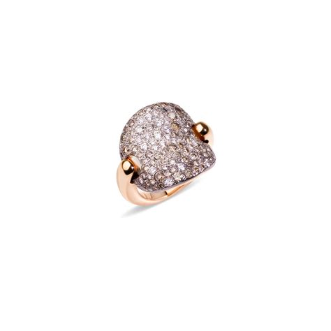 sabbia pomellato pomellato sabbia white and brown ring