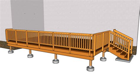 simple deck plans diy  plans coop shed playhouse
