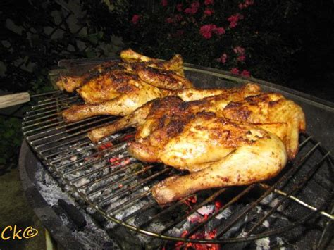 Poulet Grille A La Portugaise Barbecue by Poulet Au Barbecue Marin 233 A La Portugaise Recette De