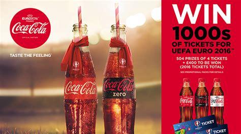Coca Cola Giveaways - win uefa euro 2016 football tickets coca cola gb