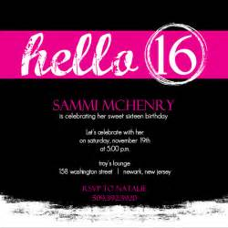 invitations for sweet 16th birthday drevio invitations design