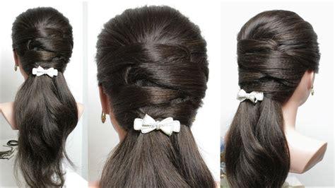 easy everyday hairstyle  long medium hair youtube