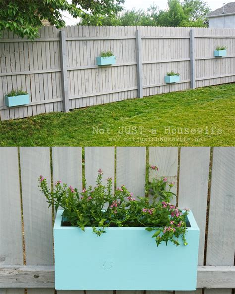 Planters On Fence by Planter Boxes On The Fence Not Just A