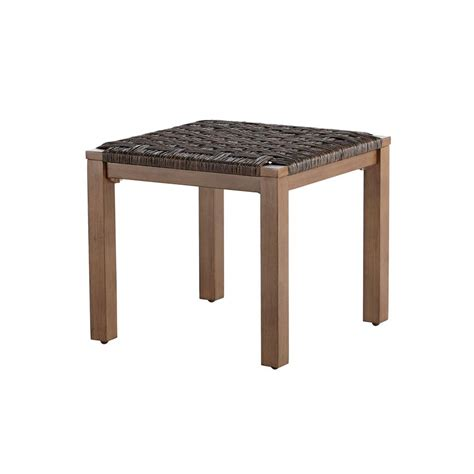 Outdoor Patio Side Table Hton Bay Oak Cliff Metal Outdoor Side Table 176 411 20et The Home Depot