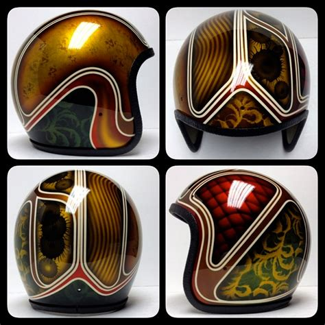 Helm Retro Coklat Umzd chemical customs refurbished helmets