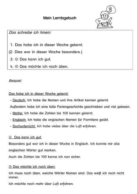 Lebenslauf Englisch Groß Und Kleinschreibung Lerntagebuch Kostenloses Arbeitsblatt Schule Kostenlose Arbeitsbl 228 Tter