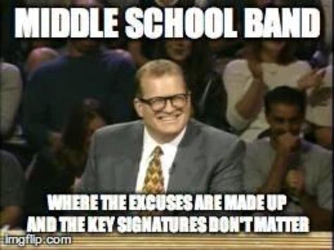 Middle School Memes - middle school band band memes pinterest