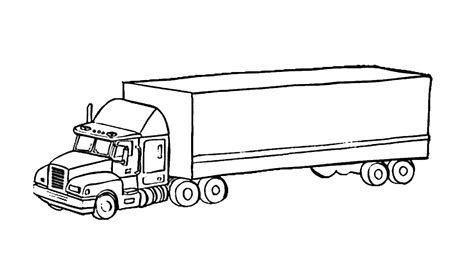 semi truck front view coloring pages