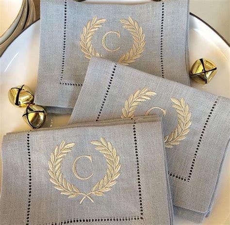monogrammed linen napkins best 25 monogrammed napkins ideas only on