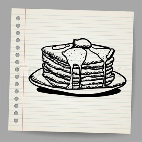 Pancake Colour Box Pancake Doodle Vektorgrafik Colourbox