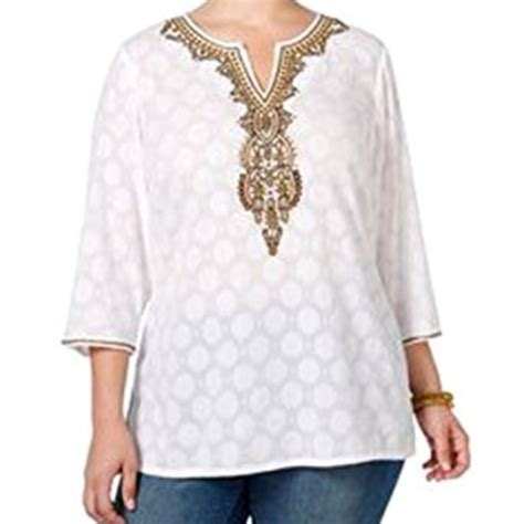 beaded tunic plus size 57 charter club tops charter club plus size beaded