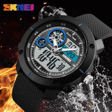 Jam Tangan Add skmei jam tangan digital analog pria 1361 gray