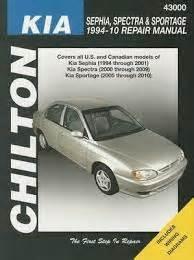 free service manuals online 1994 kia sephia auto manual 1994 2010 kia sephia spectra and sportage chilton s total car care manual
