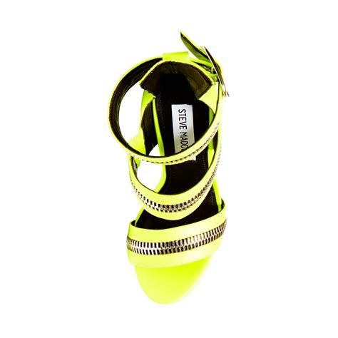 lyst steve madden mourow in yellow