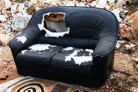 busted couch how to get rid of broken furniture
