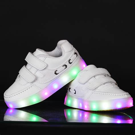 Sneakers With Lights by 2015 Fashion Children New Led Light Shoes Baby Brand Luminous Glowing Shoes Boys