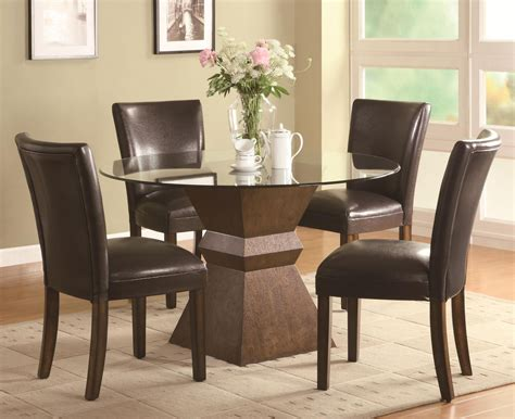 Wood And Glass Dining Table Sets Brown Wood And Glass Dining Table Set A Sofa Furniture Outlet Los Angeles Ca