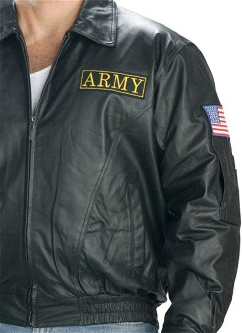 Jaket Army Bomber Original Logo Gojek officially licensed u s army patriotic leather bomber jacket size 5xl ebay
