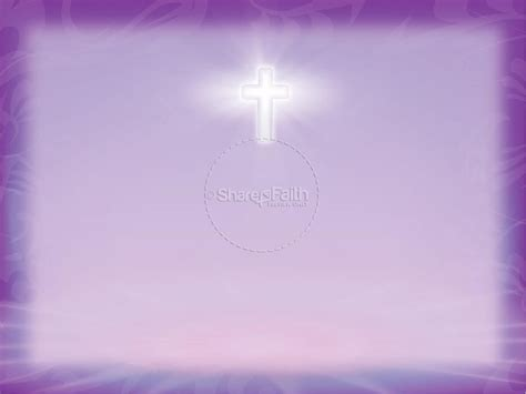 Pray Without Ceasing With Radiant Purple Powerpoint Sermons Pray Without Ceasing Sermon Powerpoint Template