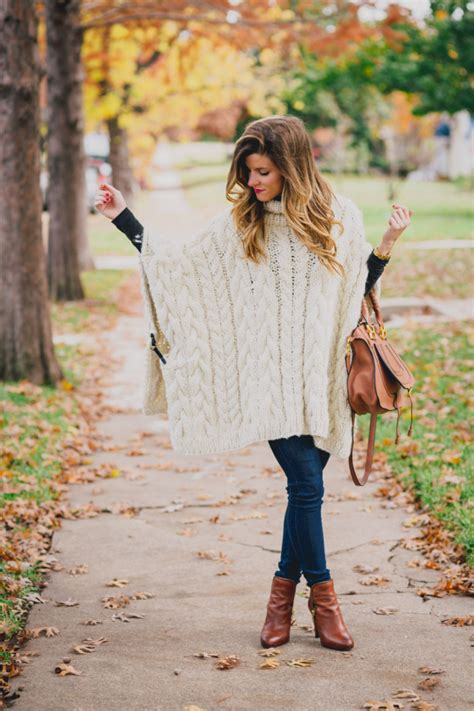 knit outfit comfy fall chunky cable knit poncho