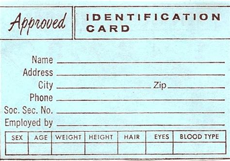 id wallet card template vintage wallet insert identification card approved flickr