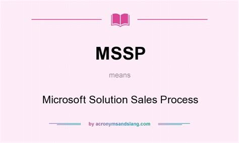 mssp microsoft solution sales process in undefined by