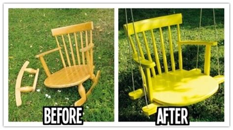 turn troline into swing turn your rocking chair into a patio backyard swing musely