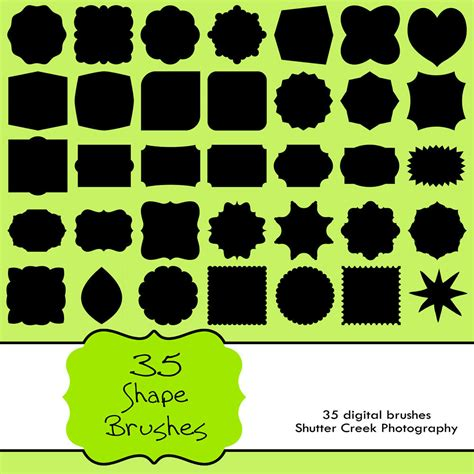 shape pattern brushes photoshop unavailable listing on etsy