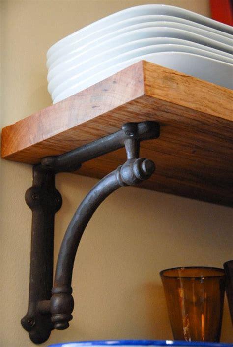 restoration hardware arc bracket reclaimed pecan