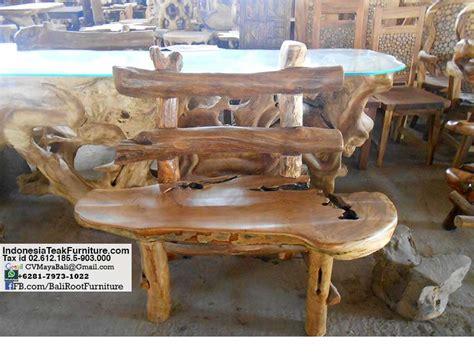 indonesian teak bench tkroot1 10 teak root garden bench bali crafts com