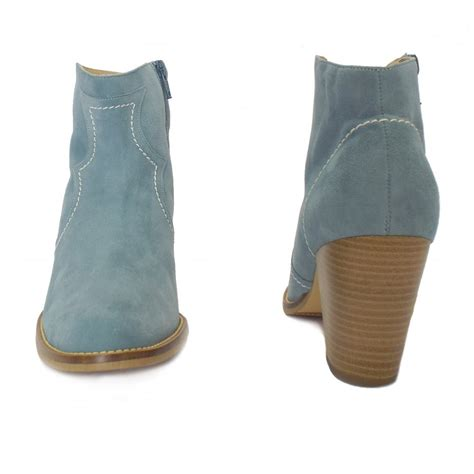 Kaiser Marisana Light Blue Suede Ankle