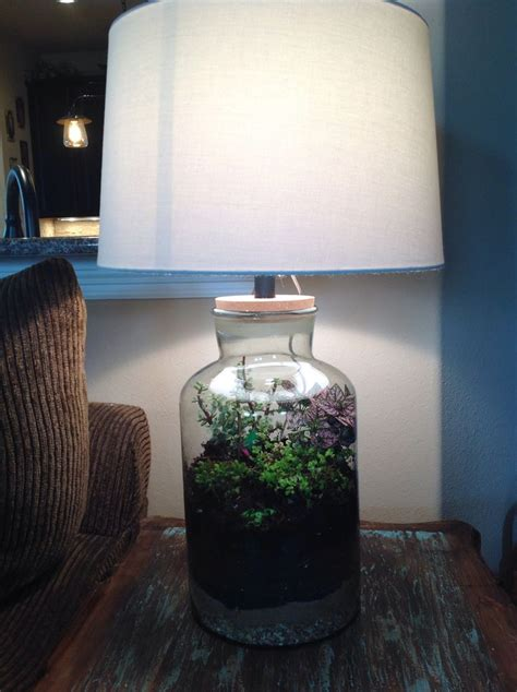 fillable lamp terrarium love   finished making