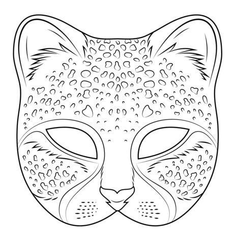 cat mask coloring page cheetah mask coloring page free printable coloring pages
