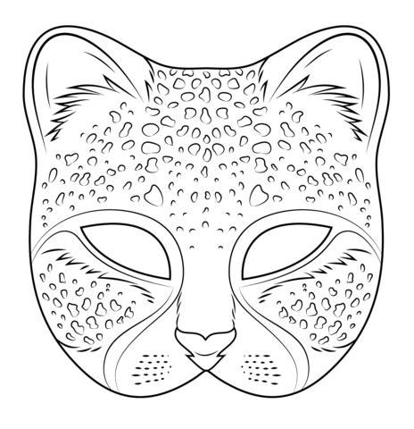 printable girl mask cheetah mask coloring page free printable coloring pages