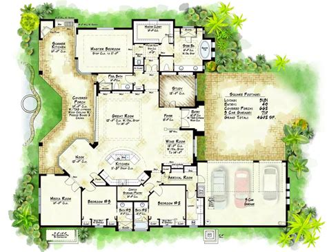 unique custom built homes floor plans new home plans design