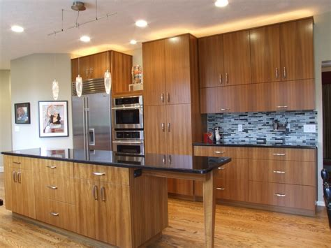 Teak Kitchen Cabinets Kitchen Modern With Cherry Wood