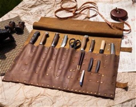 pattern for knife roll leather knife roll etsy survival info pinterest