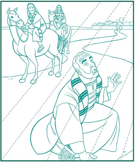 Free Saul Of Tarsus Coloring Pages Paul On The Road To Damascus Coloring Page