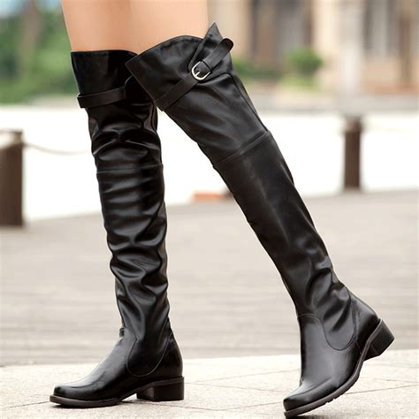 knee high boots fashion the knee boot black