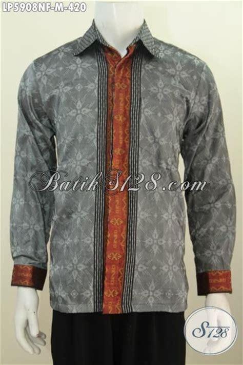 Baju Abu Abu Lengan Panjang baju tenun abu abu model lengan panjang mewah furing
