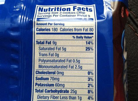 carbohydrates 6 pack nutrition facts for oreos nutrition ftempo