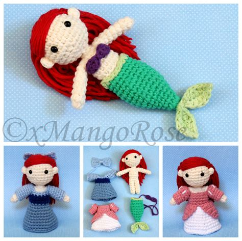 amigurumi ariel pattern the little mermaid princess ariel amigurumi doll by